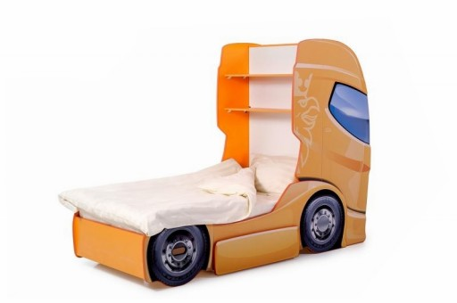 Pat camion tineret MyKids DUO SCANIA+1 Orange