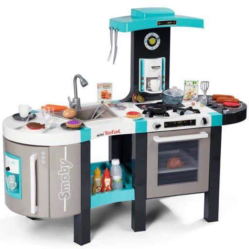Bucatarie electronica Smoby Tefal French Touch Bubble cu oala magica si accesorii