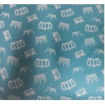 Lenjerie MyKids Crowns Turquoise 4+1 Piese 120x60