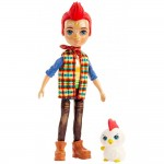 Papusa Enchantimals by Mattel Redward Rooster cu figurina Cluck