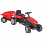 Tractor cu pedale si remorca Pilsan Active with Trailer 07-316 red