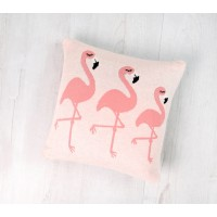 Perna Decor Bumbac Flamingo Roz